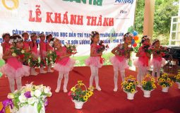 Vietnam National Roof Sheet Association donated to build Luong Son kindergartent