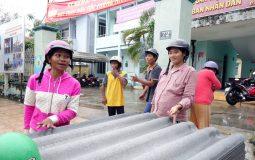 5.000 tấm lợp hỗ trợ huyện nghèo nơi tâm bão Damrey