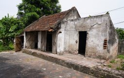 The deteriorated house of old woman who has been suffering from cognitive disabilities
